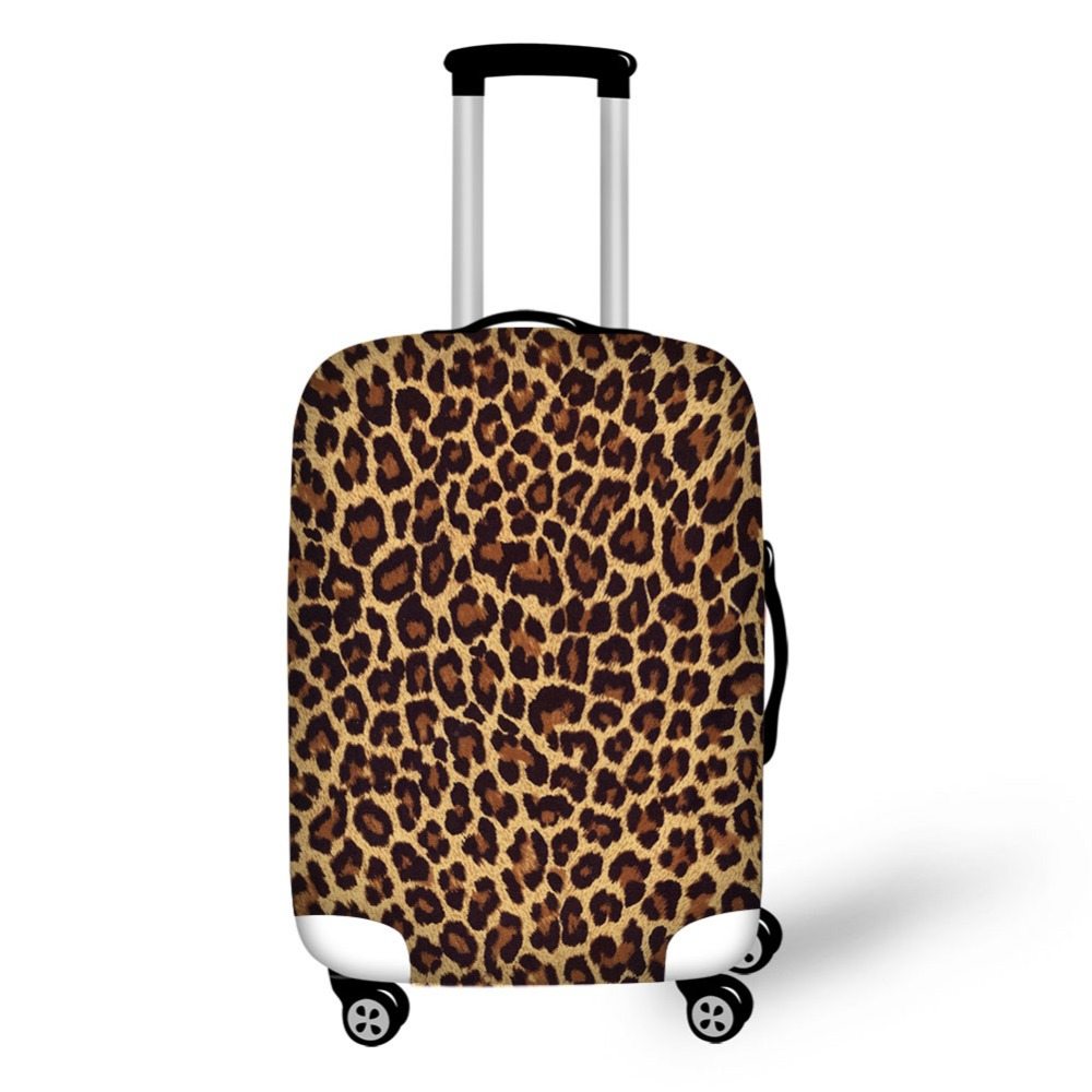 Leopard Design Print Luggage Cover Travel Accessories Suitable For 18-32 Inch Suitcase Waterproof Luggage Protective Cover