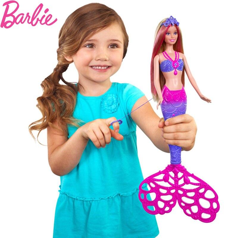 Barbie Rainbow Lights Mermaid Doll Feature Mermaid Barbie Doll Girl Christmas Birthday New Year Gift CCF49 christmas gift girl birthday gift mermaid suit doll dress for barbie doll
