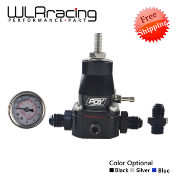 Darmowa wysyłka uniwersalny regulator ciśnienia paliwa + GAUGE + AN6 montaż 30-70 PSI WLR7845 tanie i dobre opinie 1 kg 1 inch BLACK BLUE SILVER ANODIZE FUEL SUPPLY FUEL PRESSURE REGULATOR