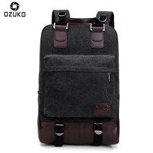 2017 OZUKO Neue Stil Große Kapazität Männer Leinwand Rucksäcke Vintage Laptop Rucksack Student Schulrucksäcke Lässige Reise Mochila