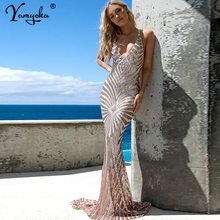 Sexy summer Sequins dress women elegant Backless dress bodycon vintage maxi Bandage dresses Beach Night club party vestidos 2019 цена и фото