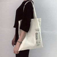 2017 Autumn Winter New Hot Fashion Women Female Students College Style Simple Casual Canvas Bags Shopping