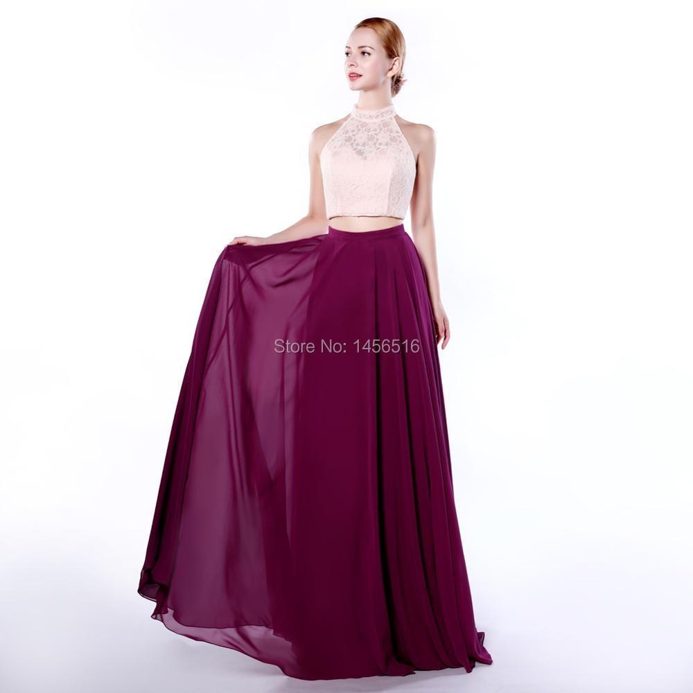 ᑐMenoqo vestido de noche dos piezas 2018 largo con encaje vestidos ...