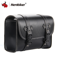 HEROBIKER Motorcycle Bag Motorcycle Luggage Bags Sportster Chopper Top Case PU Leather Side Storage Tank Bag Motorbike Equipment