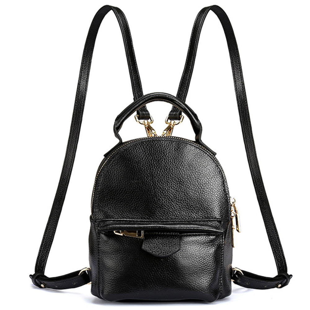 2016 New Top Quality Genuine Leather 100 Cowhide Women Ladies Korean Daypack Bag Luxury Retro Trend