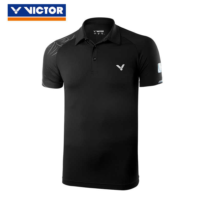 2018 Victor Men Badminton T Shirts 100% Polyester Quick Dry Sportswear For China Open Clothes 80081