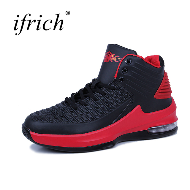 Ifrich New Arrival Men Air Sole Sport Basketball Shoes Comfortable Male Althetic Sneakers Black White Mens Basketball Footwear