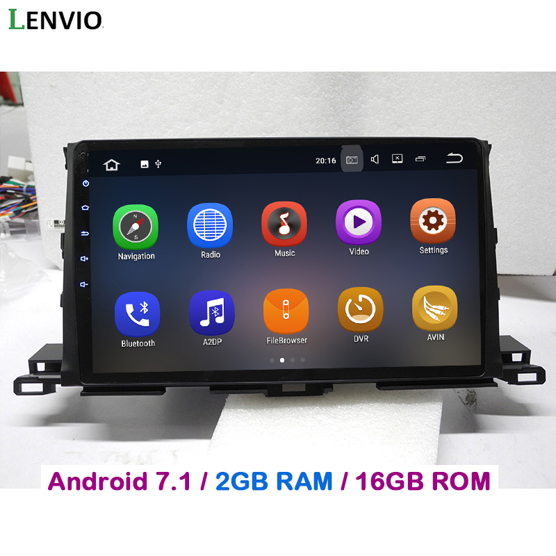 Lenvio 2GB RAM 2 Din Android 7.1 CAR GPS DVD Player For Toyota Highlander 2015 2016 in dash stereo radio Navigation head unit 3G