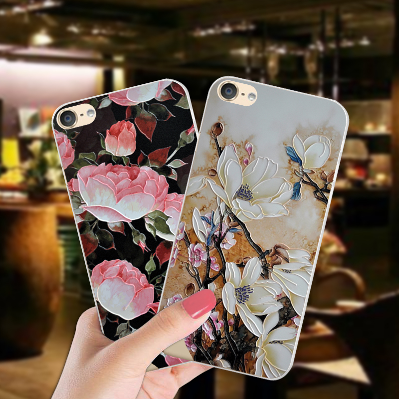ShuiCaoRen Luxury Silicone Case For Apple iPod Touch 6 Pretty Flower TPU Phone Cover Bag For itouch 6 Cases