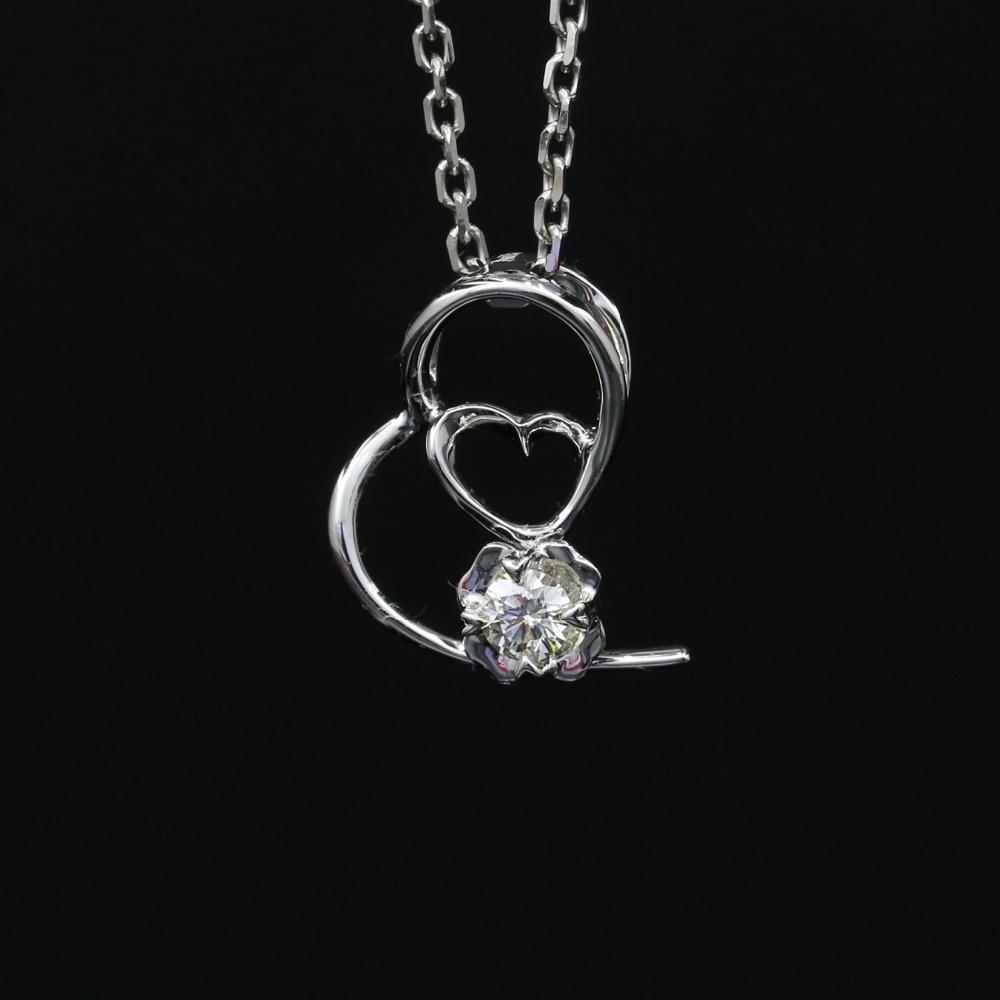 Halo 0.08CT 18k Gold Round Cut Square Center Pave Set Natural Diamond Pendant Necklace Chain Women Fine Jewelry