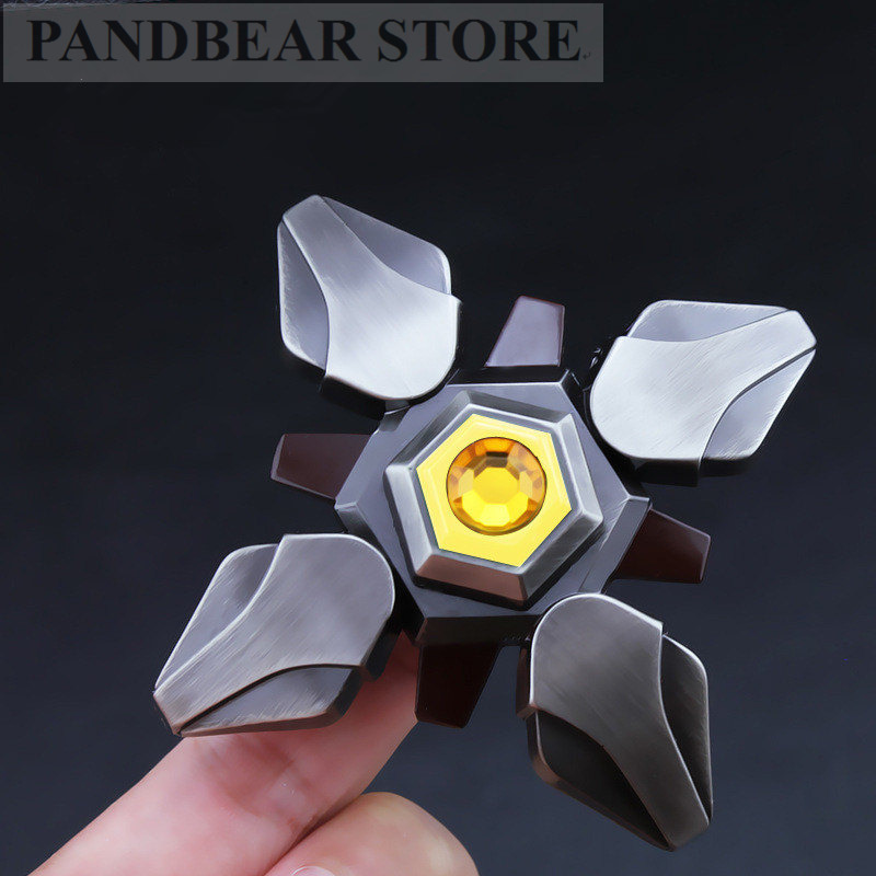 Ninja genji DARK Hand Spinner Relieve Stress Anxiety Toys for Autism ADHD Top Spinning Spiner Knight Fidget Spinner Metal cool game genji darts alloy metal weapon rotatable darts cosplay props for collection fidget spinner hand anti stress kf028