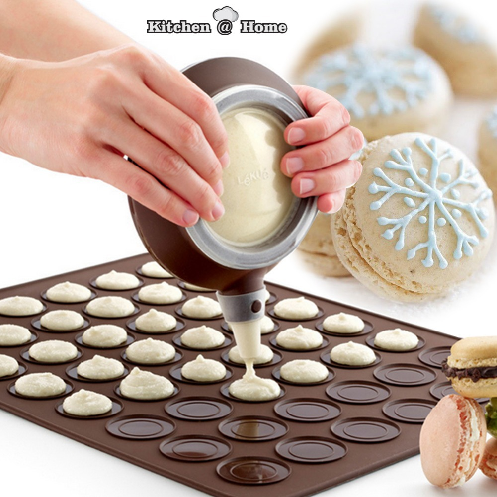 48 Holes Silicone Macaron Muffin Baking Pastry Sheet Mat