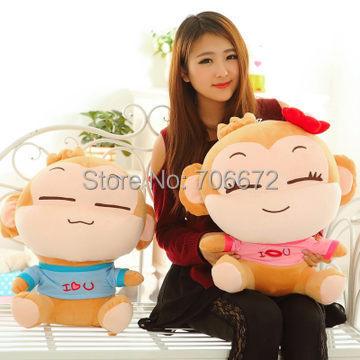 Livraison gratuite, grand 60 cm une paire aime singes en peluche jouet yoyo et cici singe poupée cadeau De Noël d7067