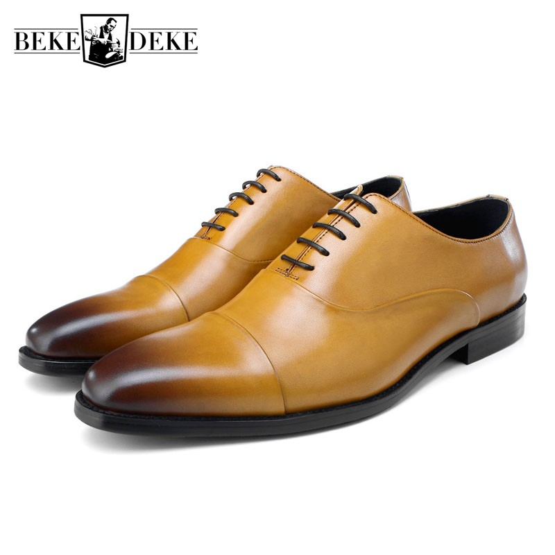 Luxury Leather Shoes Men European Style Lace Up Business Dress Shoes High Quality Wedding Party Formal Shoes Men Plus Size 45