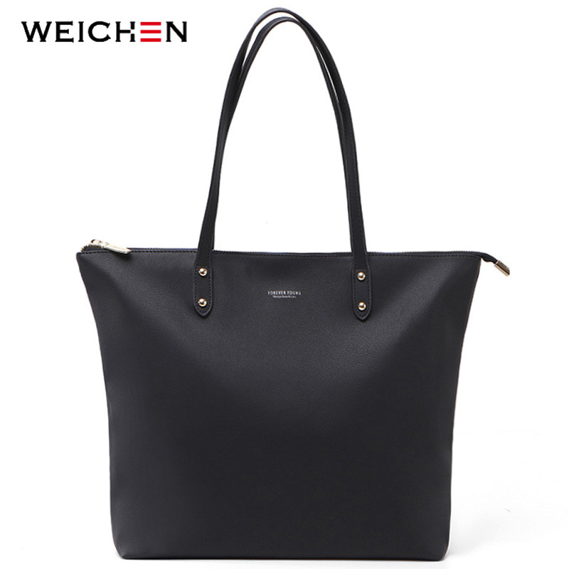 WEICHEN Women Big Handbag Soft Leather Ladies Totes Top-Handle Shoulder Bag Female Fashion  Big Tote Shopping Bag Sac Bolsa