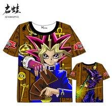 ФОТО Anime  Yu-Gi-Oh games  Card game T-shirt Men Women Short Sleeve Summer dress game player t shirt