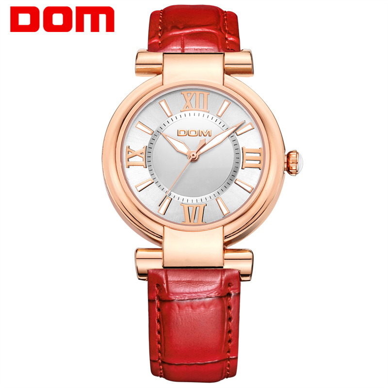 DOM women luxury brand waterproof style quartz leather watches women fashion watch 2016 reloj G-1688 dom women luxury brand watches waterproof style quartz ceramic nurse watch reloj hombre marca de lujo t 558