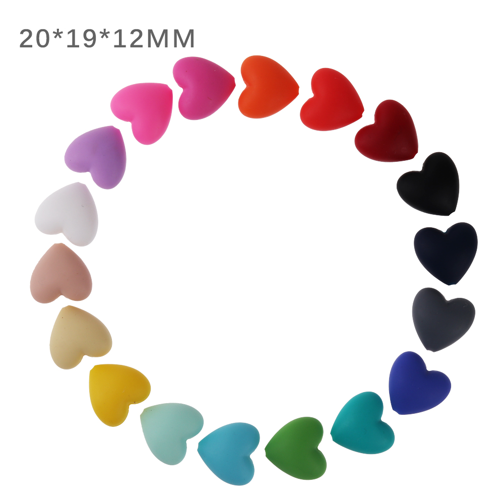 TYRY.HU 10pc Silicone Teething Beads For Necklace Teether Silicone Baby Pacifier Beads DIY Baby Teether Shower Gift Accessories
