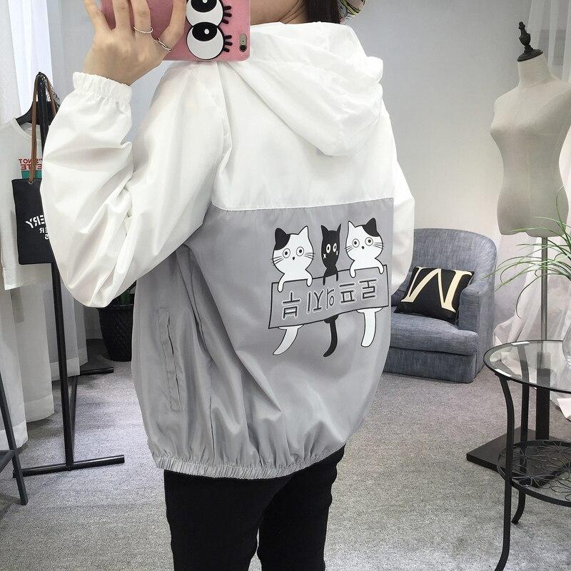 Jacken Frauen 2019 Neue Mode Frauen Mit Kapuze Grundlegende Jacke - Damenbekleidung - Foto 5