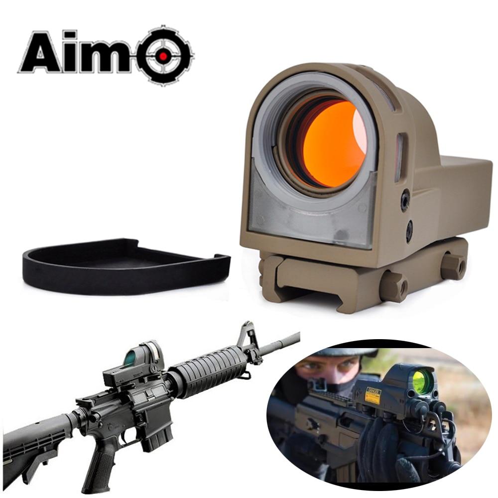 Objetivo-O Tactical Mira Telescopica Parágrafo Caza M21 Auto-iluminado Mira Reflex Para Tiro Caça Riflescope Colimador AO3045