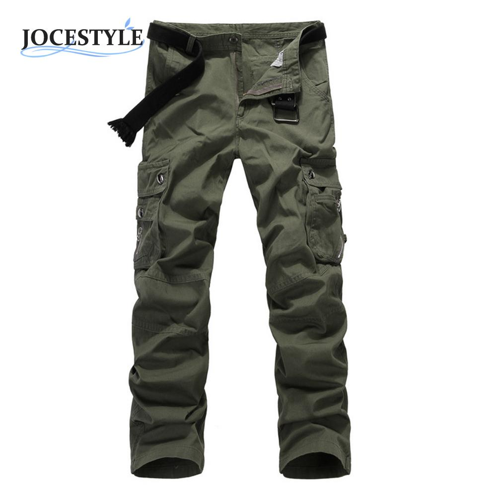 Mens Military Army Pants Casual Boys Military Army Combat Work Slacks Cargo Full Long Pants Camo Trousers For Autumn Winter
