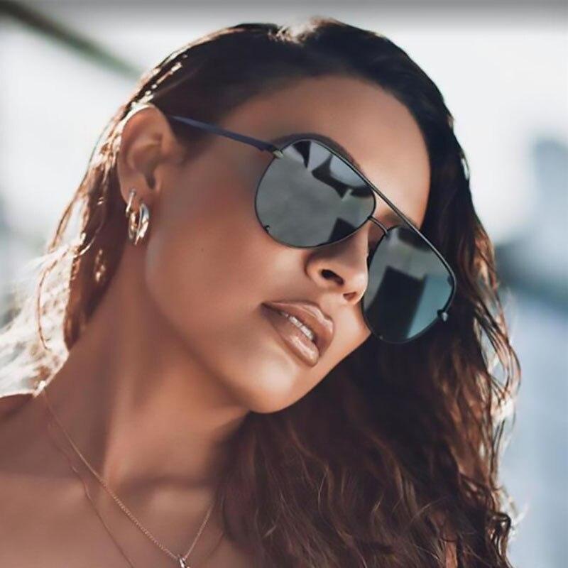 Lunettes de soleil noires surdimensionnées pour hommes et femmes, mode unisexe, Vintage, marque de styliste, ombres d'été, conduite, UV400, 2020 |