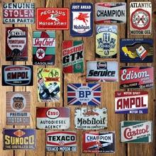 [ Mike86 ] Castrol CHAMPION Motor oil Tin Sign Metal Plaque Poster Custom Painting Garage Classic Decor Art LT-1691