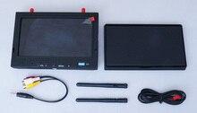 Skyzone RC702 AIO FPV Receptor de Diversidad Sky-702 5.8G 7 Pulgadas LCD Monitor de 4 Bandas y un total de 32 Canales con Capucha sombrilla 5.8 Ghz
