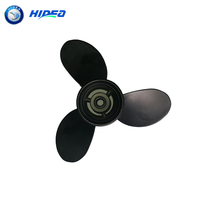 Hidea 9.8F Black Propeller 3*8.9*8.5 2 Stroke 9.8HP 2002 Engine Number 9.8B 3B2-64517-0 Boat motor
