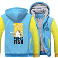 Newest Unisex Winter Thicken Anime Salted Fish Cosplay Coat Zipper Fleece Jacket Sweatshirts Hoodie