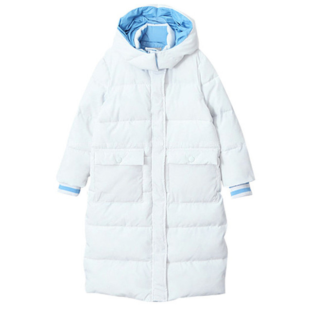 Best Offers 4 to 16 years kids & teenager girls white color hooded winter casual thick parkas jacket & coat children fashion christams coat