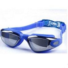 Swimming Goggles Electroplating Anti-fog Men's And Women's Flat Hd Waterproof Swimming Goggles Big Box Diving Glasses