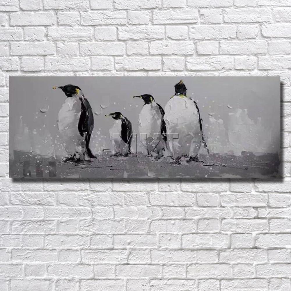 Pinguim Pintura Arte Da Parede Para Casa Decora O Sala De Estar  -> Arte Parede Sala