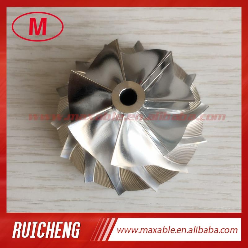 RHF5V 7 + 7 лезвий 39,98/56,00 мм Высокая производительность турбо заготовка/Фрезерование/алюминий 2024 колесо компрессора для VB13