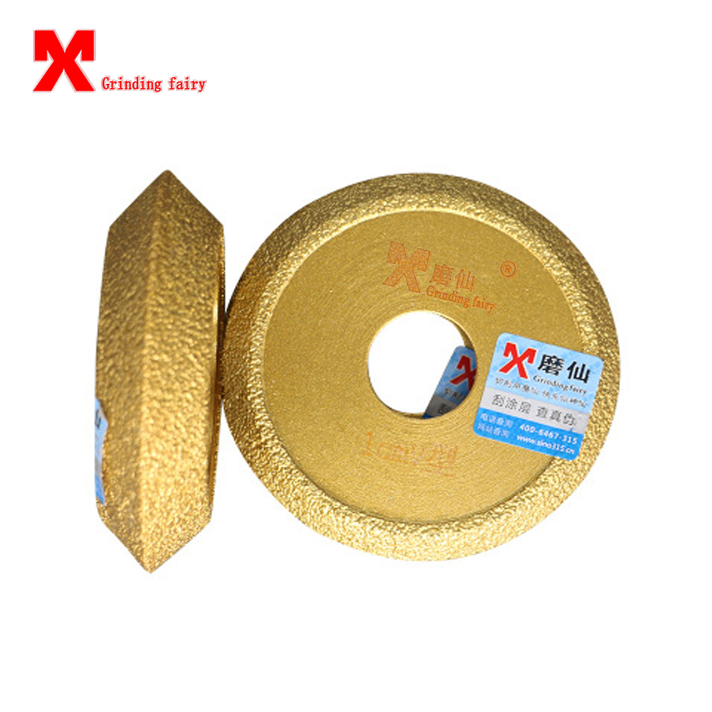 MX Brazed V-Type Grinding Wheel Angle Grinder Use Semi-circular Edging Wheel Stone Hard-ware Grinding To Dry And Wet Available