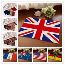 Moda Vintage bandera de Gran tamaño disponible absorbente Franela suave suelo Puerta De pie Yoga Mat baño cocina pasillo alfombra área alfombra