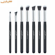 JAF Brand 7 Pcs/set Professional Makeup Brushes Soft Synthetic Hair Shading Blending Brush for Eye Shadow Face Lips Makeup Tool все цены