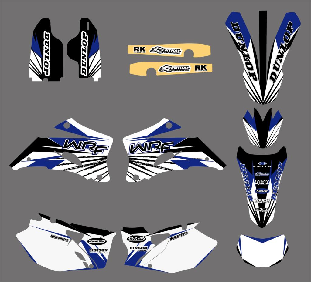 Motorcycle TEAM GRAPHICS DECALS STICKERS Fit For Yamaha WR250F WRF250 2007 2013 WR450F WRF450 2007 2011