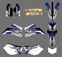 Autocollants graphiques d'équipe de moto, autocollants adaptés à Yamaha WR250F WRF250 2007-2013 WRF450 2007-2011 WRF 250 450 WR 250F 450F