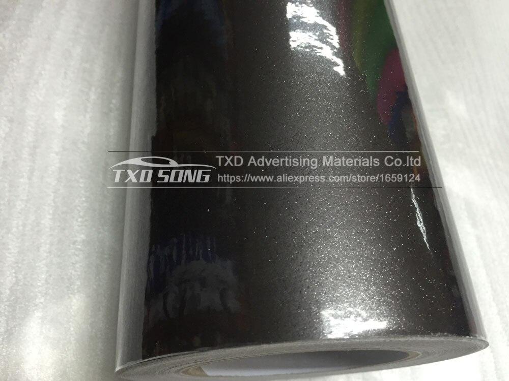12/30/50/60 см X 100 см/лот Высокое качество Глянцевая блестящая Переливающаяся автомобиля Обёрточная бумага Цвет изменения фильм темно-серый глянцевый блеск виниловая наклейка
