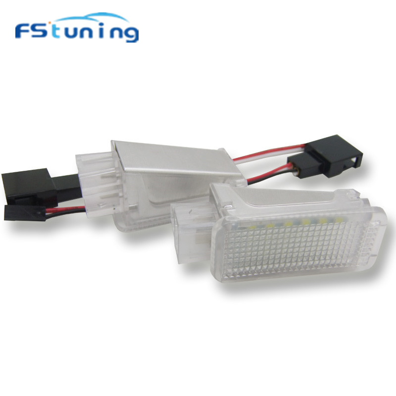 FStuning 18SMD LED Courtesy <font><b>lights</b></font> Error Free for Audi <font><b>A2</b></font> A3 S3 A4 S4/RS4 for VW Phaeton Sharan Glove <font><b>Box</b></font> Under Door Foot <font><b>Light</b></font> image