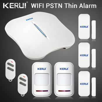 KERUI W1 WIFI Alarm System Home PSTN Burglar Security Intelligent System Android IOS APP Control Wireless Motion Door Detector - DISCOUNT ITEM  18% OFF All Category