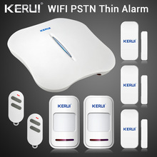 Kerui w1 wi fi sistema de alarme casa pstn assaltante segurança inteligente sistema android ios app controle sem fio detector de movimento porta