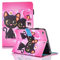 Cute Kids Gift Animal Prints Stand Magnetic Smart Tablet Case Cover For Apple IPad Mini 1
