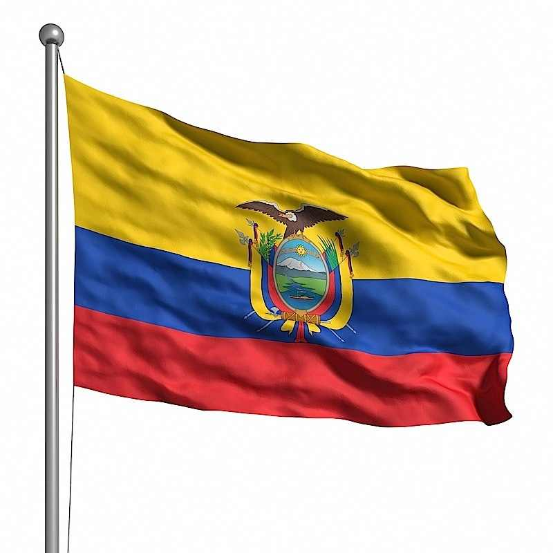 エクアドルポリエステル国際国フラグ屋内屋外を旗のエクアドルポリエステルフラグ5*3 ft 150*90センチメートル