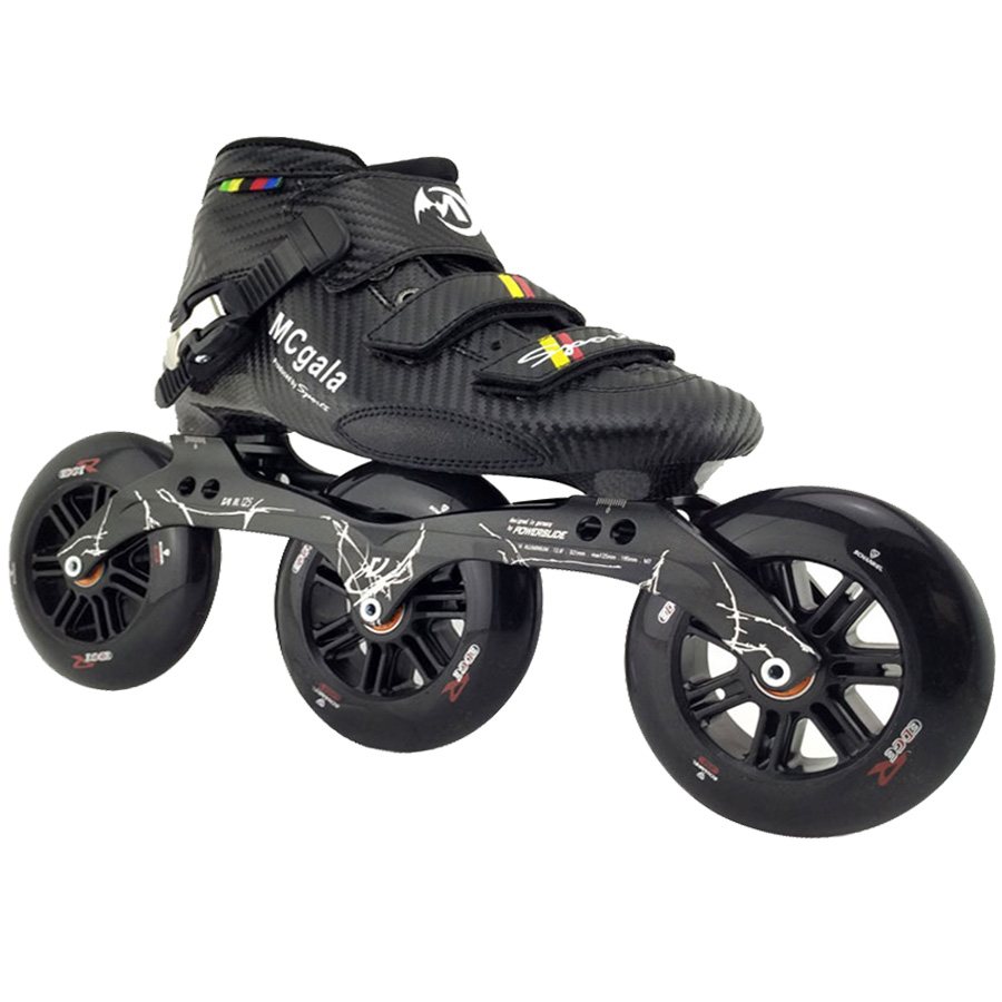 JEERKOOL Inline Speed Roller Skates for Kids Adult Men Carbon Fiber Beginner 3 Wheels Skates Roller Speed Skating Shoes SH39 professional roller shoes speed roller inline skates speed skating roller skates 4 inline wheels