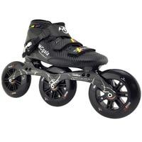 JEERKOOL Inline Speed Roller Skates for Kids Adult Men Carbon Fiber Beginner 3 Wheels Skates Roller Speed Skating Shoes SH39