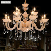 SHIXNIMAO Luxury candle Crystal Chandelier High imitation jade crystal Crystal Chandelier 6Arm/8Arm/12Arm/15Arm Crystal lamp