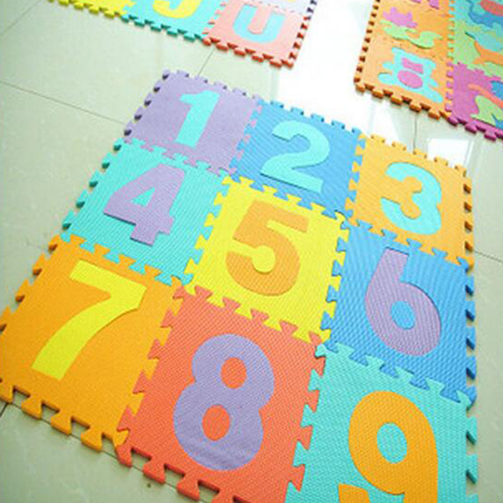 10PCs / 1lot Baby Soft Developing Crawling Tepper Barn Spill Puzzle - Baby og småbarn leker