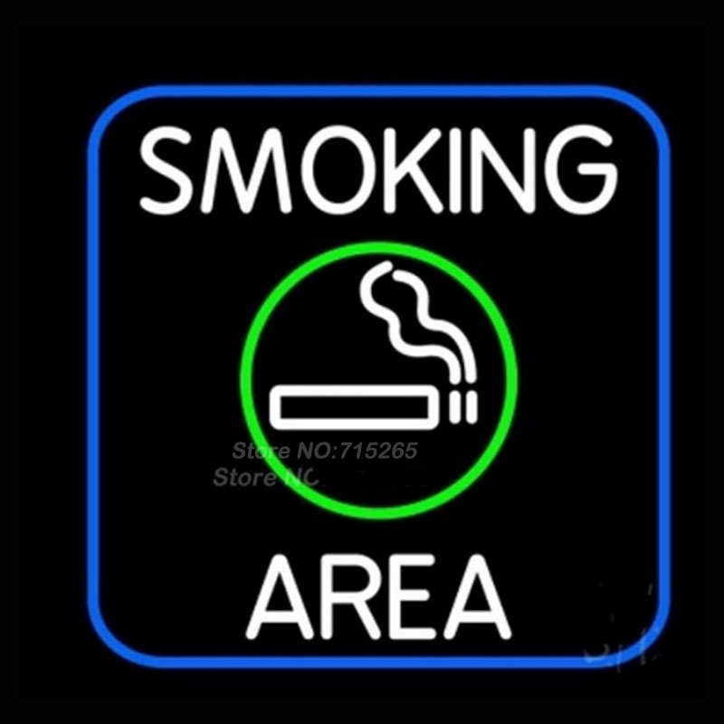 Round Smoking Area With Cigar Neon Sign Neon Bulbs Recreation Room Gifts Art Design Real Glass Tube Guarante Store Display 20x20 custom neon signs board for fresh salads restaurant store real glass tube signage beer bar pub club shop light sign 17 14